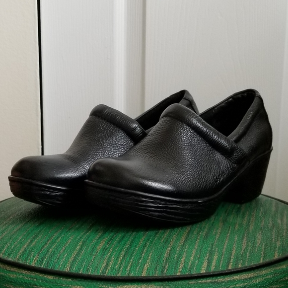 Boc Black Born Leather Slip Ons